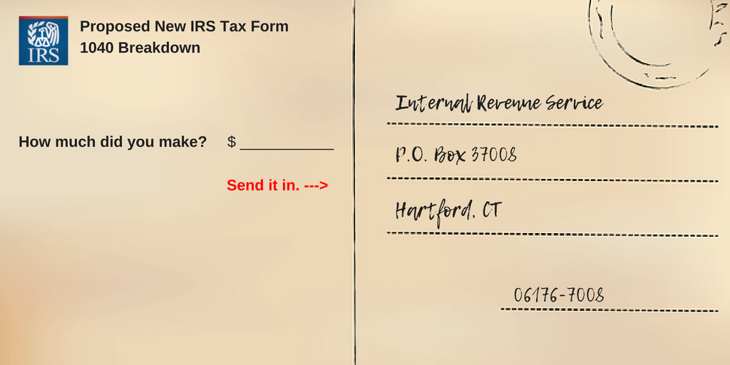 Proposed New Irs Tax Form 1040 Breakdown
