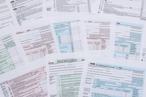 12 Common tax problems to avoid, wrong tax forms, different tax forms, variety of tax forms