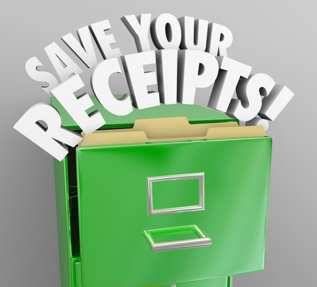 tax prep tips, organization, organize receipts