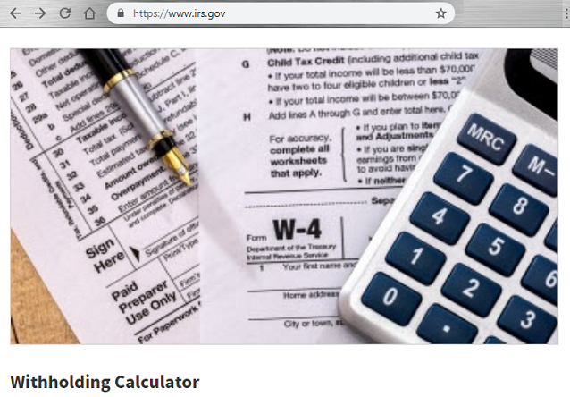 Start Off 2019 Tax Year Right, Contract, W-4 form, w4 form, IRS.gov